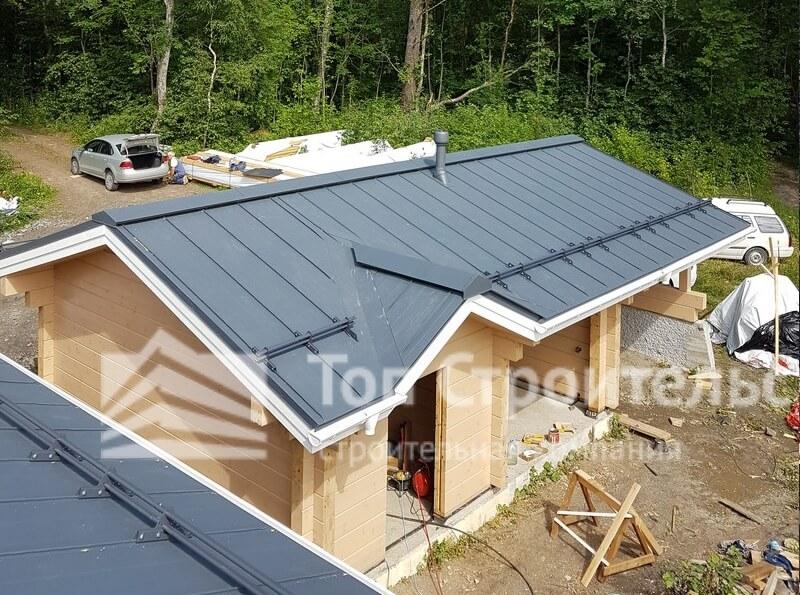 крыша коньковый брус фото