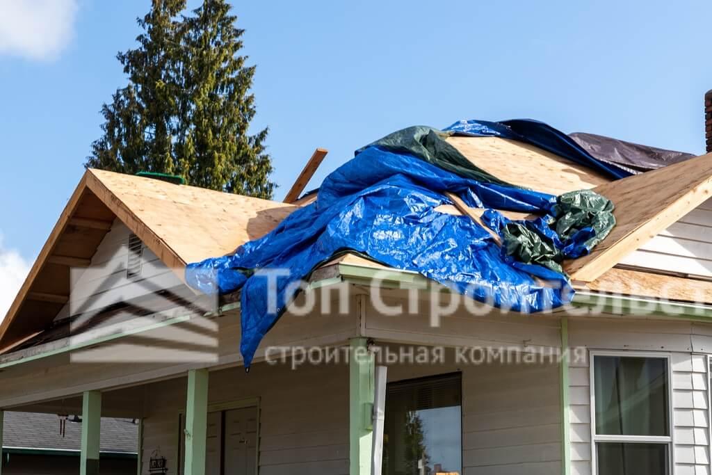 крыша для частного дома демонтаж фото